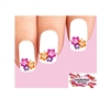 Colorful  Hawaiian Hibiscus Flowers Waterslide Nail Decals