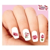 Pink Roses Assorted Waterslide Nail Decals