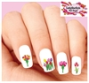 Flowers Colorful Tulips Assorted Waterslide Nail Decals
