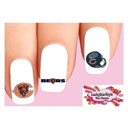 Chicago Bears Football Assorted Waterslide Nail Decals