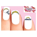 Los Angeles Chargers Football Assorted Waterslide Nail Decals