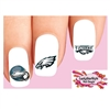 Philadelphia Eagles Football Assorted Waterslide Nail Decals