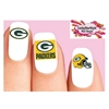 Green Bay Packers Football Assorted Waterslide Nail Decals