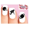 Football Silhouette, Helmet, Player Assorted Waterslide Nail Decals