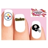 Pittsburgh Steelers Football Assorted Waterslide Nail Decals