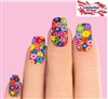 Colorful Flowers Waterslide Full Nail Decals