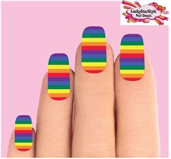 Colorful Rainbow Waterslide Full Nail Decals