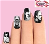 Halloween Monster Frankenstein & Bride Waterslide Full Nail Decals