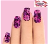 Pink Purple Hibiscus Flowers Set of 10 Waterslide Full Nail Decals