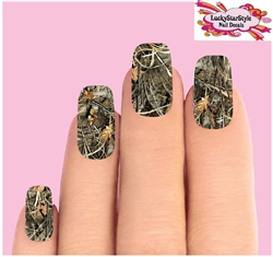 Duck Camo Max 4 Camouflage Waterslide Full Nail Decals