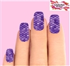Purple Mermaid Tail Fish Scales Set of 10 Full Waterslide Nail Decals
