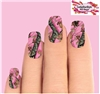 Pink Mossy Oak Realtree Camo Set of 10 Waterslide Full Nail Decals