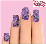 Purple Realtree Mossy Oak Camo Waterslide Full Nail Decals