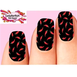 Red Chili Peppers Waterslide Full Nail Decals