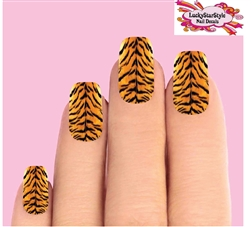 Tiger Stripes Waterslide Full Nail Decals