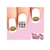 Gambling Jackpot Slot Machine 777 Assorted Waterslide Nail Decals