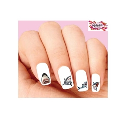 Great White Shark Assorted Waterslide Nail Decals