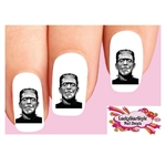 Halloween Frankenstein Monster Waterslide Nail Decals