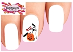 Halloween Ghost Pumpkin Bats Boo Set of 20 Waterslide Nail Decals