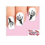 Halloween Dead Skeleton Hands Waterslide Nail Decals