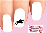 Horse Jumping Jumper Silhouette Waterslide Nail Decals