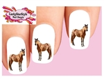 Horse Standing Waterslide Nail Decals