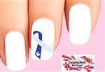 Hydrocephalus Ribbon Waterslide Nail Decals