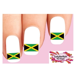 Jamaican Flag Waterslide Nail Decals
