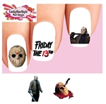 Friday the 13th Jason Voorhees Assorted Set of 20 Waterslide Nail Decals