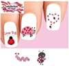 Valentines Day Love Bug Hearts Assorted Set of 20 Waterslide Nail Decals