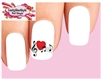 Musical Notes with Heart Waterslide Nail Decals