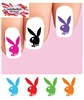 Colorful Playboy Bunny Assorted Set of 48 Waterslide Nail Decals
