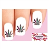 Colorful Pot Marijuana Cannabis Leaf #2 Waterslide Nail Decals