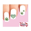 Green Cannabis Pot Marijuana Heart Assorted Waterslide Nail Decals