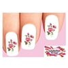 Pink Roses Waterslide Nail Decals