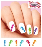Colorful Seahorse Assorted Waterslide Nail Decals