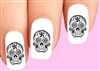 Day of the Dead Sugar Black & Clear Waterslide Nail Decals