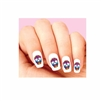 Day of the Dead Sugar Skull with Colorful Flowers Waterslide Nail Decals