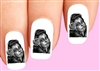 Day of the Dead Sugar Skull Girl with Rose Waterslide Nail Decals