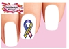 Support Our Troops Yellow Ribbon with Flag Waterslide Nail Decals