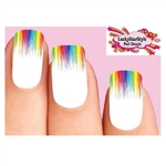 Colorful Rainbow Paint Drip Dripping Tips Waterslide Nail Decals