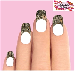 Duck Camo Max 4 Oak Camouflage Waterslide Nail Decals Tips