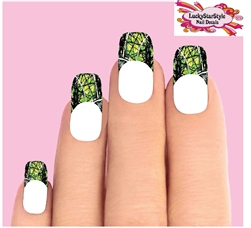 Camo Camouflage Mossy Oak Real Tree Green Waterslide Nail Decals