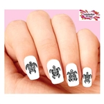 Hawaiian Tribal Turtles Assorted Waterslide Nail Decals