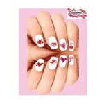 Valentines Day Hearts Love Cupid Assorted Waterslide Nail Decals
