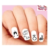 Wedding, Hearts, I do Silhouette Assorted Waterslide Nail Decals