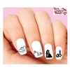 Wedding, Bride, Groom, I do Silhouette Assorted Waterslide Nail Decals