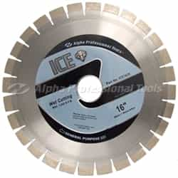 "Alpha Professional Tools  ICE1620 Ice Blade 16"" 20mm Segment"