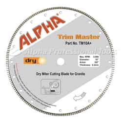 Alpha Professional Tools TM10A+ Trim Master Blade 10""