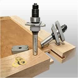 Amana 55432 IN-STILE/RAIL STRAIGHT with BEVEL Router Bit set
